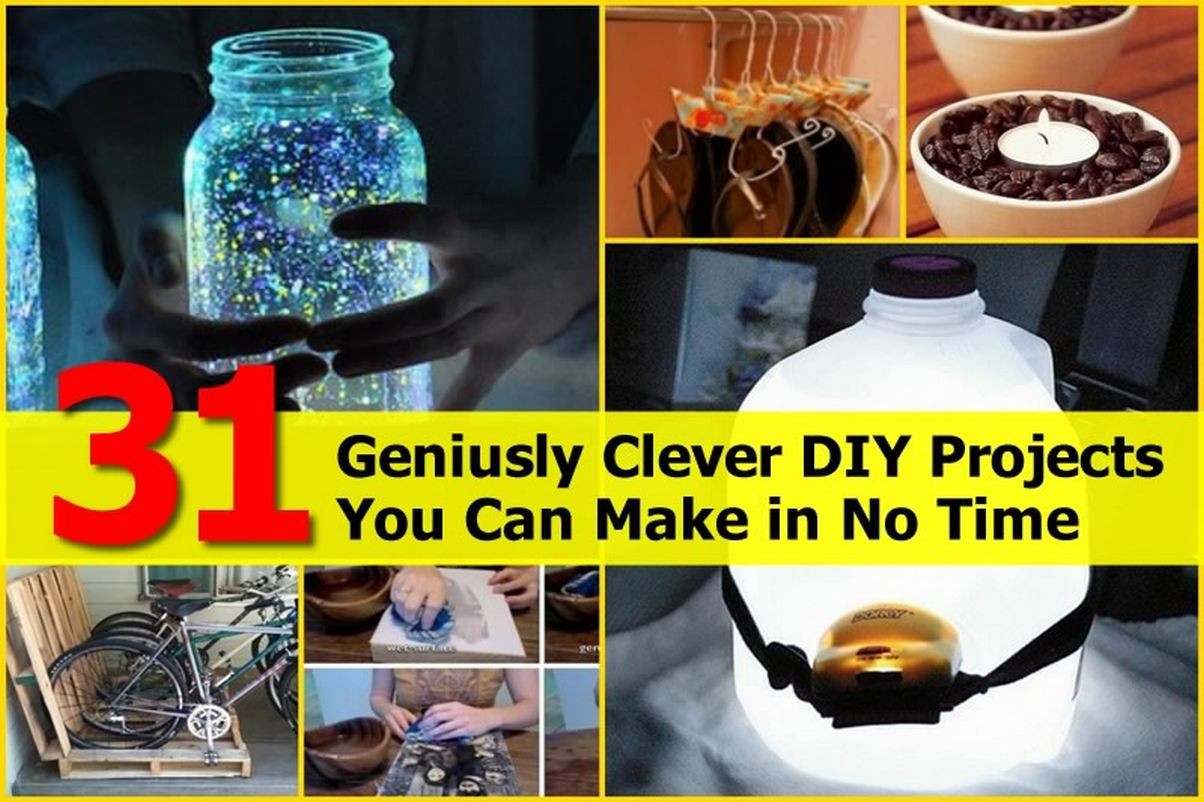 31 geniusly clever diy projects you can make in no time for Cool things to make and do