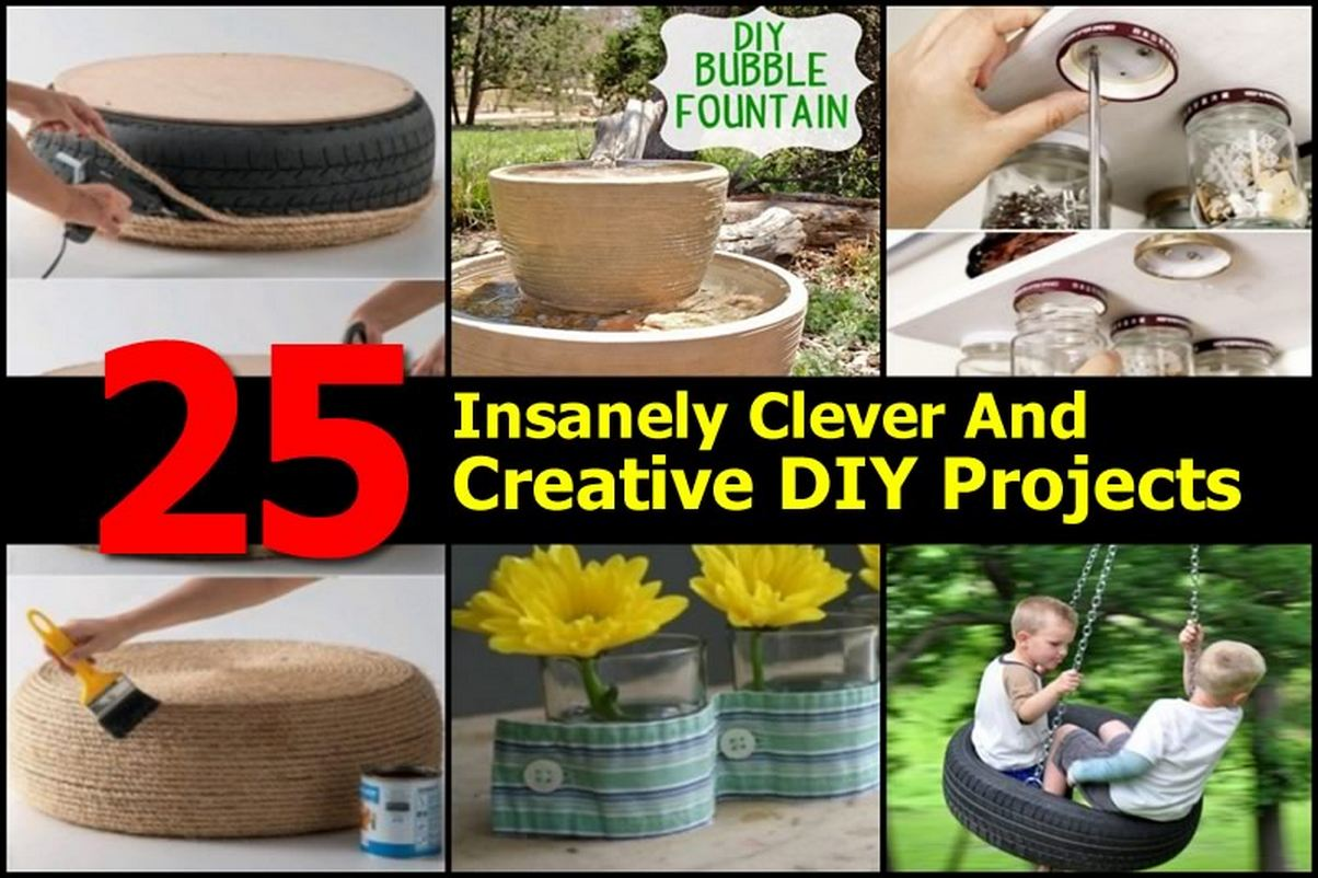25 insanely clever and creative diy projects for Interesting diy projects