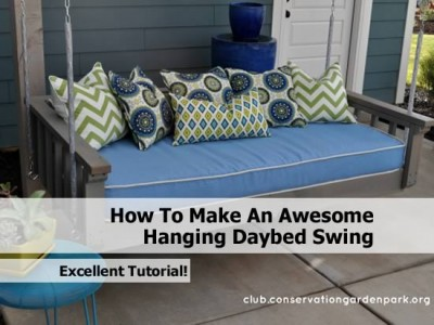 How to make an awesome hanging daybed swing - How to build a hanging bed ...