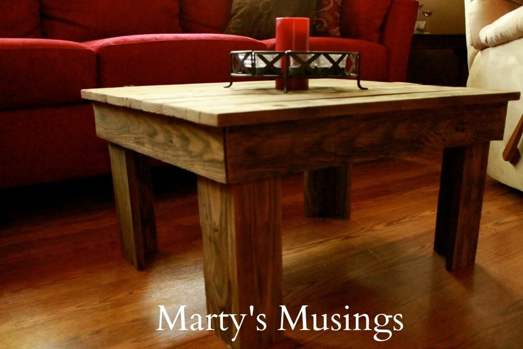 Beautiful Homemade Wooden Coffee Table Made Of Old Fence Posts
