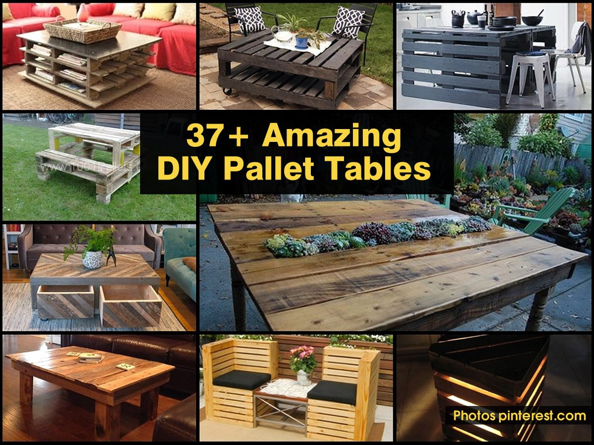 37 amazing diy pallet tables for Craft ideas using pallets