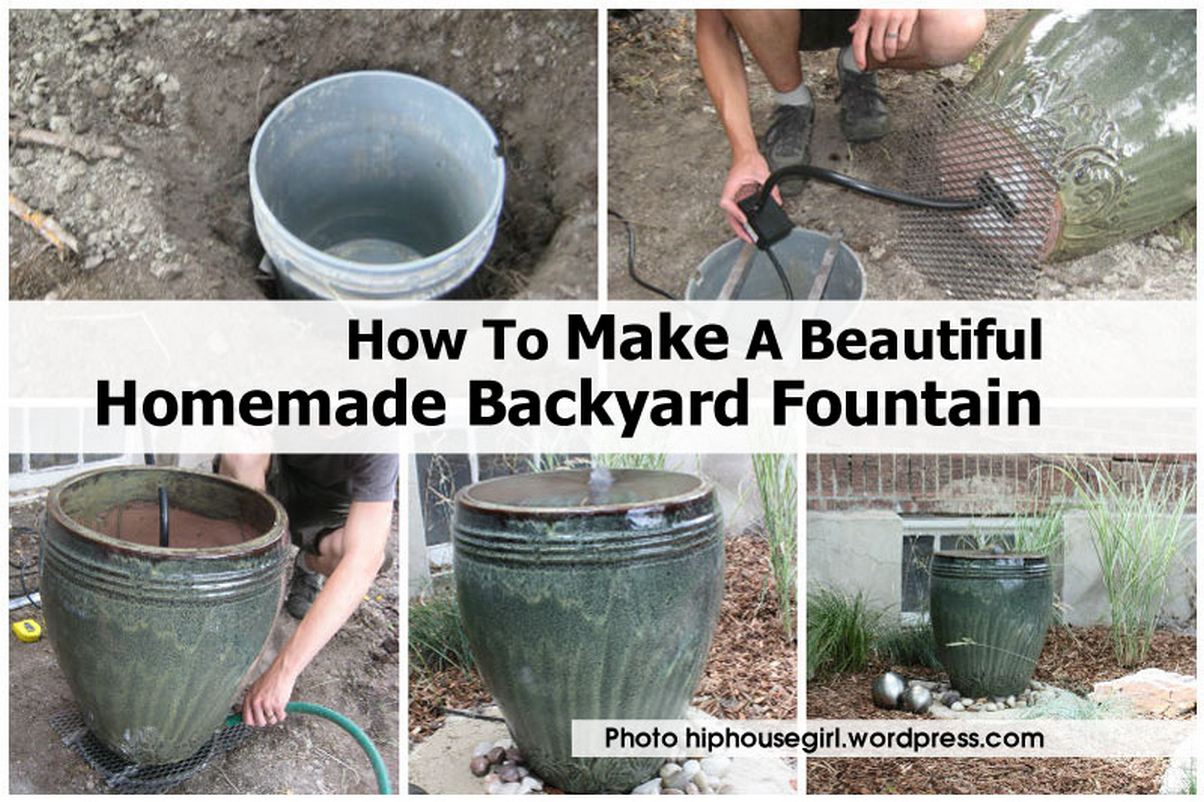 How to make a beautiful homemade backyard fountain How to make a small garden