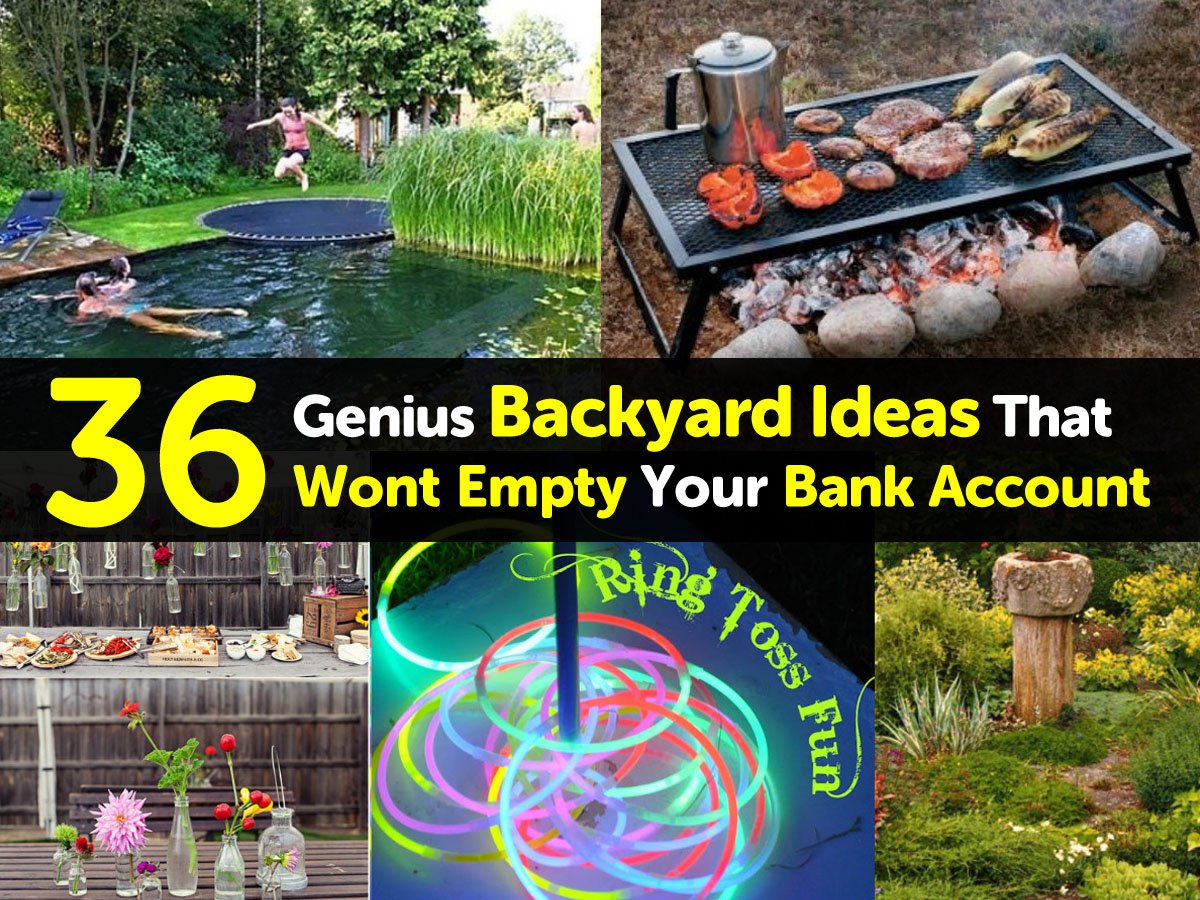 Empty Backyard Ideas : if buying a bunch of new yard decorations and outdoor