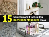 15 Gorgeous And Practical DIY Bathroom Makeover Ideas