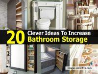 20 Clever Ideas To Increase Bathroom Storage