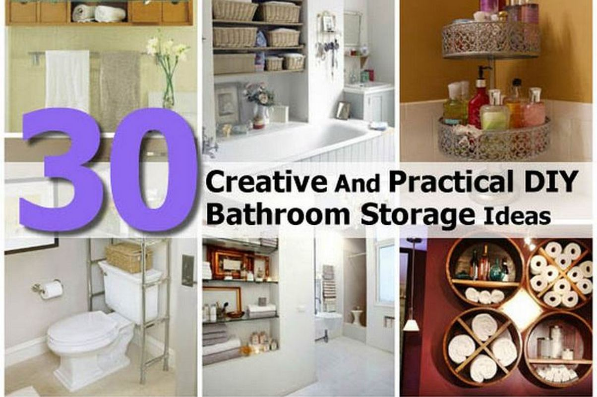 New Creative Yet Practical DIY Bathroom Storage Ideas