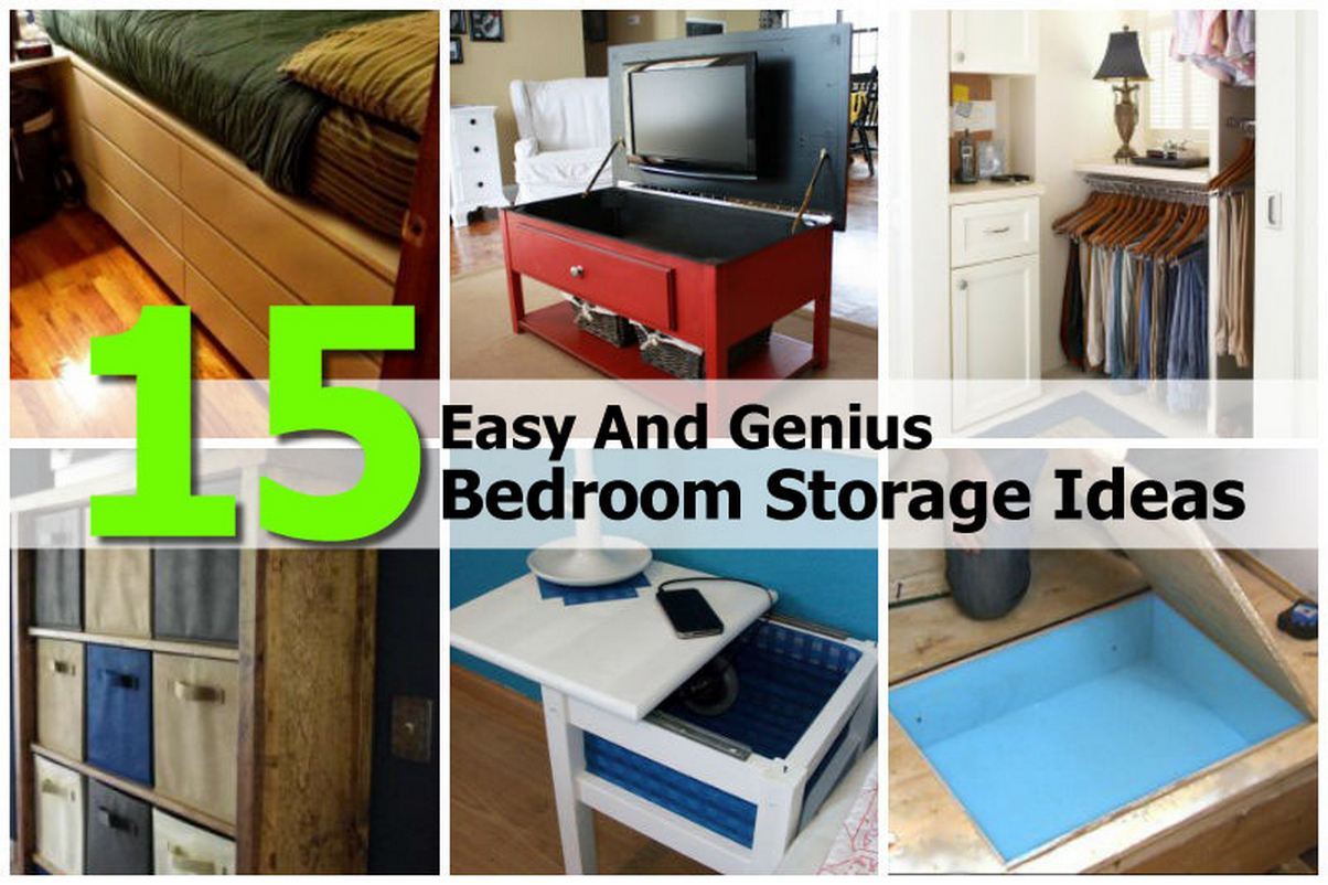 15 easy and genius bedroom storage ideas for Genius ideas for home