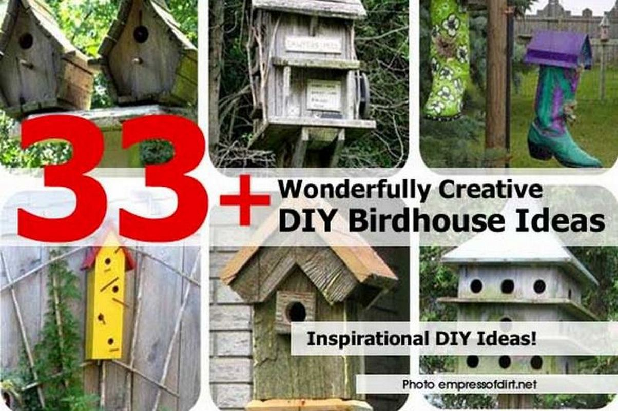 33+ Wonderfully Creative DIY Birdhouse Ideas