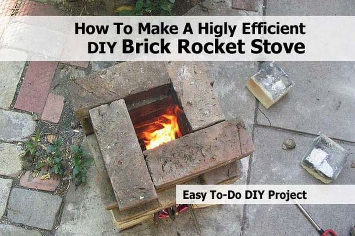 How to make a higly efficient diy brick rocket stove for Make a rocket stove