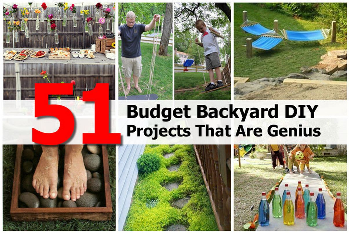 cheap diy backyard projects 51 budget backyard diy projects that are genius