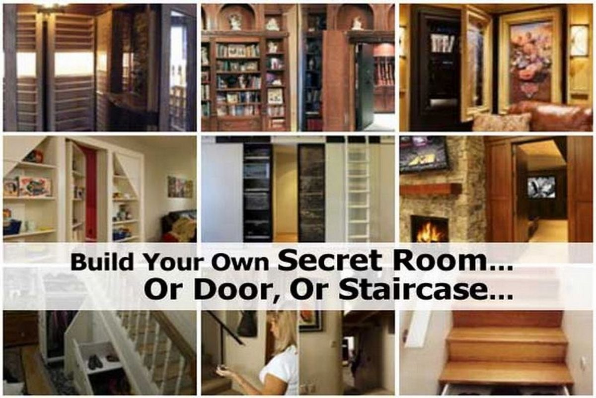 build your own secret room or door or staircase