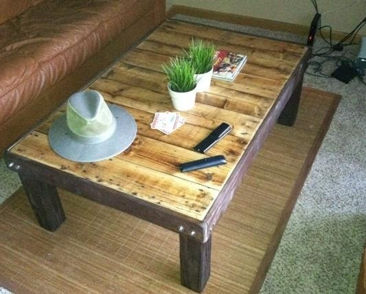 How To Make An Inexpensive Coffee-Stained Wood Pallet Coffee Table