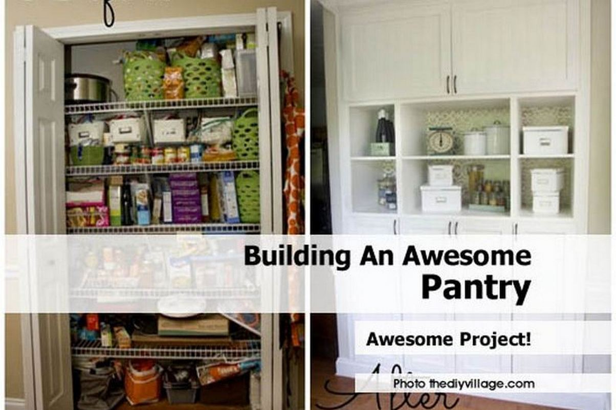 How To Make A Pantry Cabinet With Building An Awesome Pantry (Pantry  Cabinet Plans Included