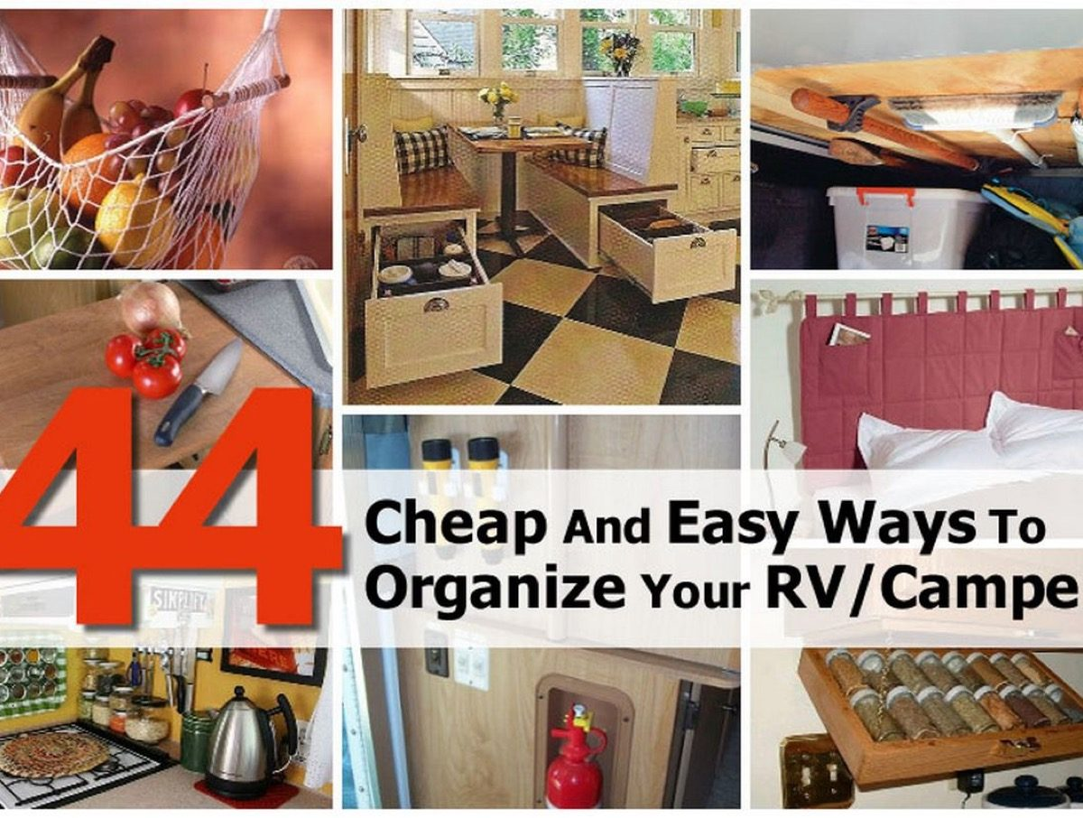 44 cheap and easy ways to organize your rv camper Cheap easy ways to decorate your home