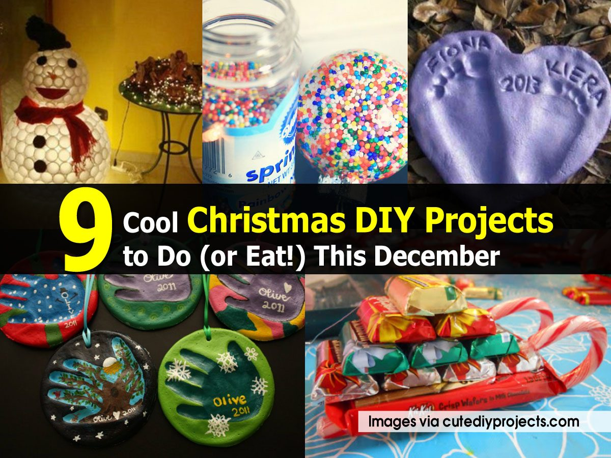 Cool Christmas DIY Projects to Do (or Eat!) This December