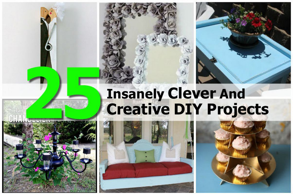 25 insanely clever and creative diy projects