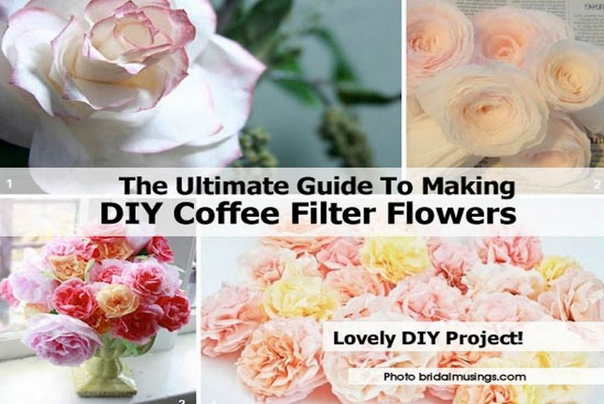 The Ultimate Guide To Making DIY Coffee Filter Flowers