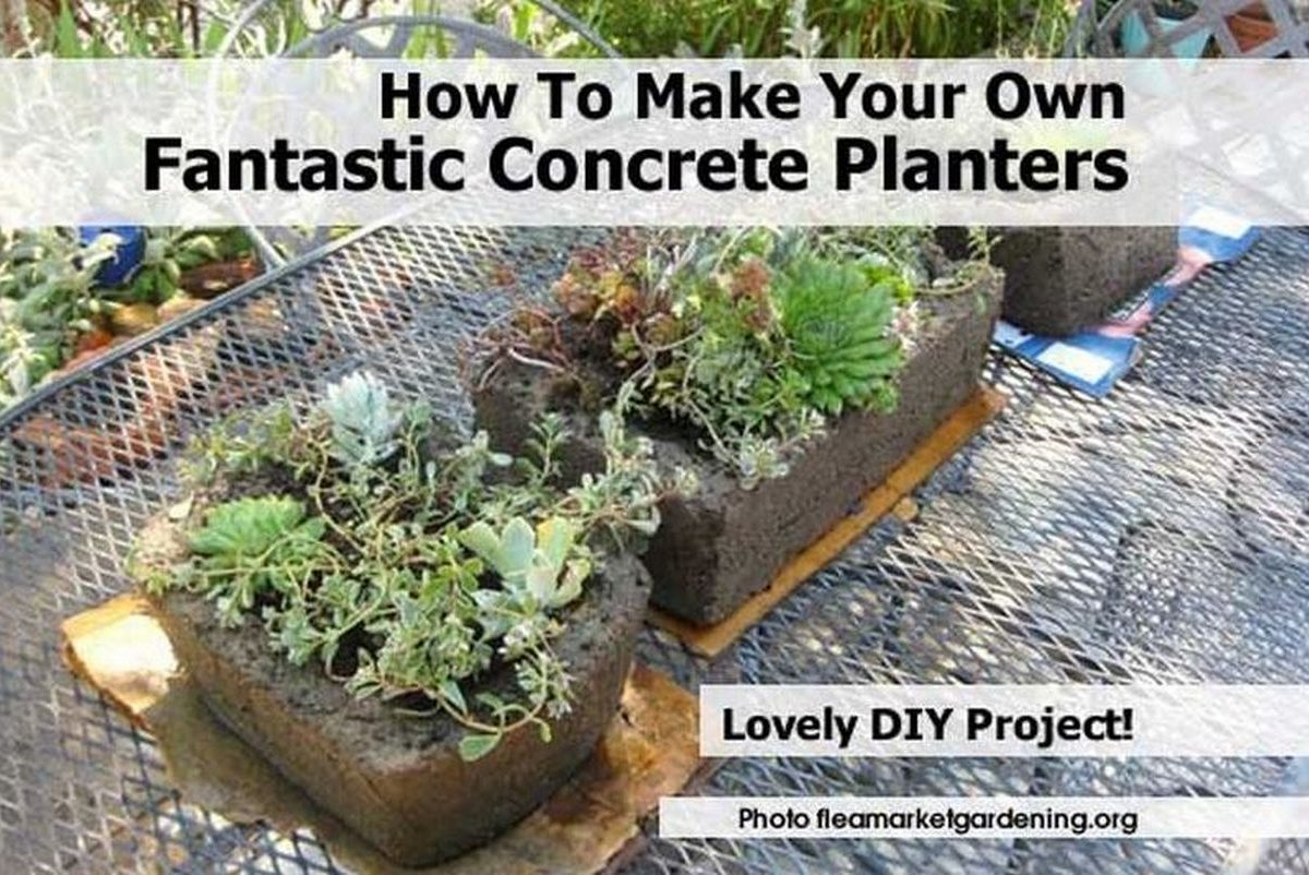 How to make your own fantastic concrete planters for Make your own cement