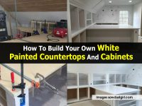 How To Build Your Own White Painted Countertops And Cabinets