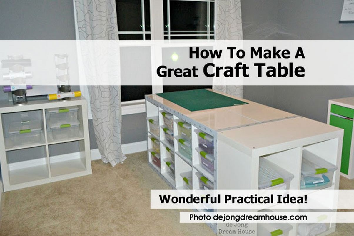 how to make a great craft table. Black Bedroom Furniture Sets. Home Design Ideas