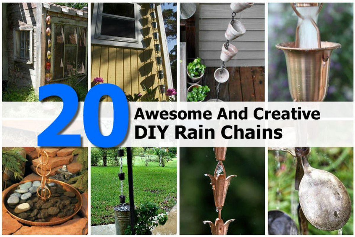 20 Awesome And Creative DIY Rain Chains