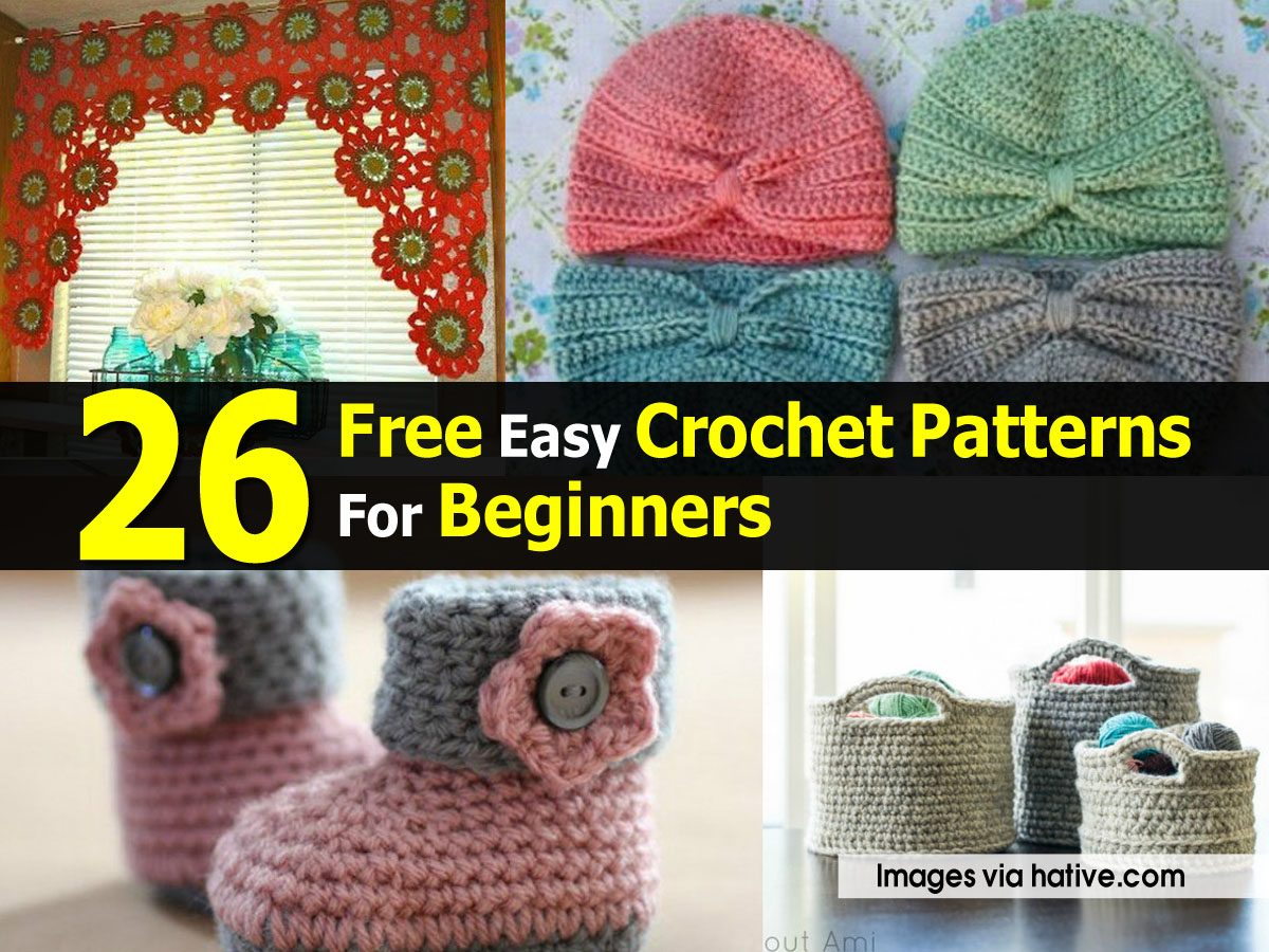 Free online crochet patterns for beginners squareone for 26 free easy crochet patterns for beginners bankloansurffo Image collections