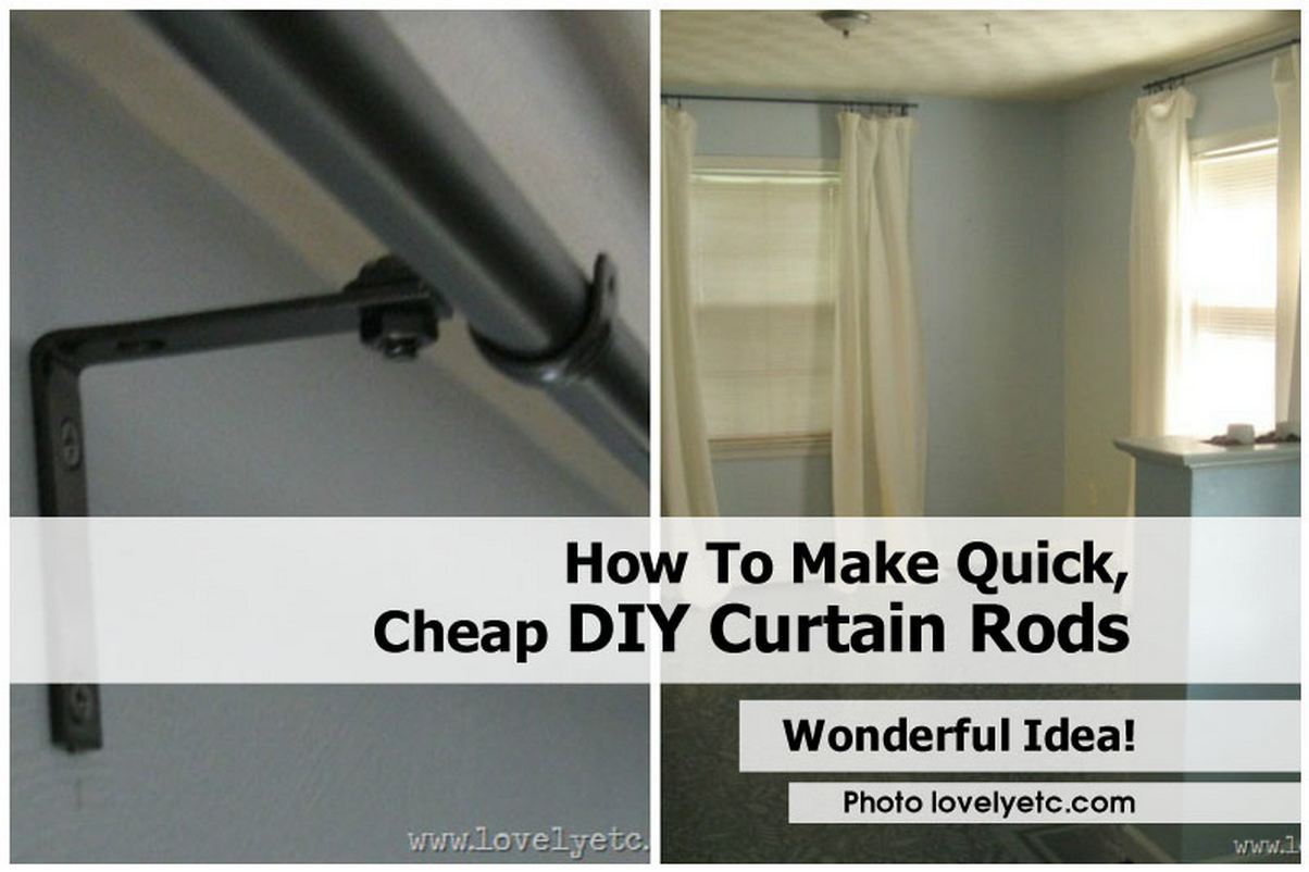 Gray And Orange Shower Curtain DIY Curtain Rods