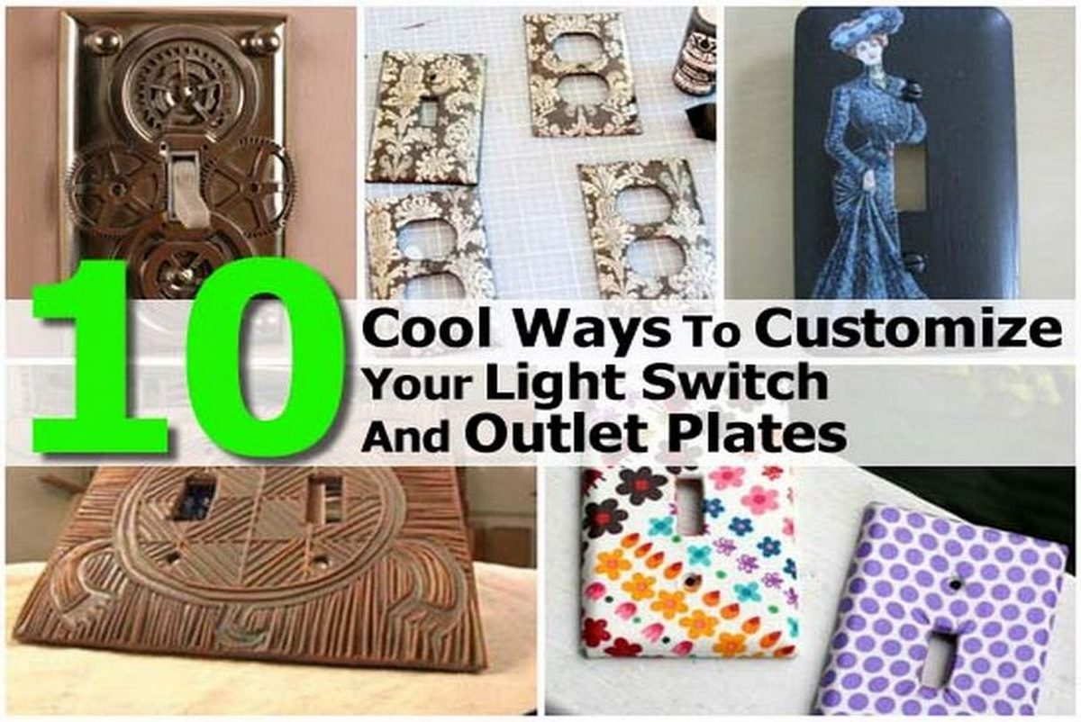 10 Cool Ways To Customize Your Light Switch And Outlet Plates