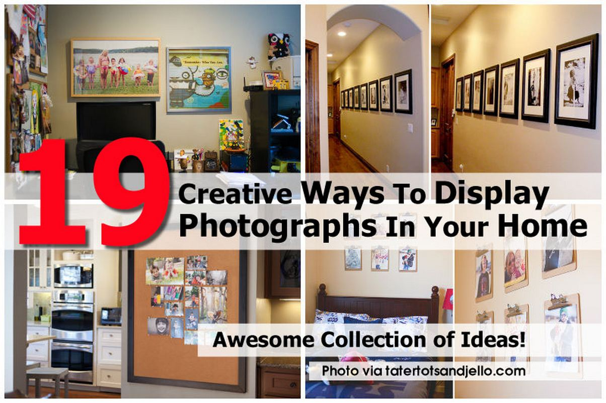 19 creative ways to display photographs in your home for Displaying pictures in your home