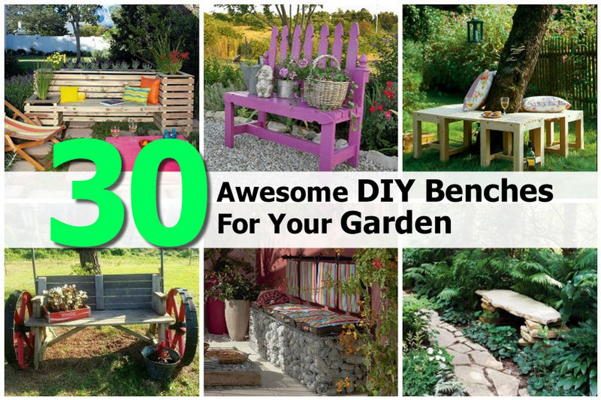 30 Awesome DIY Benches For Your Garden