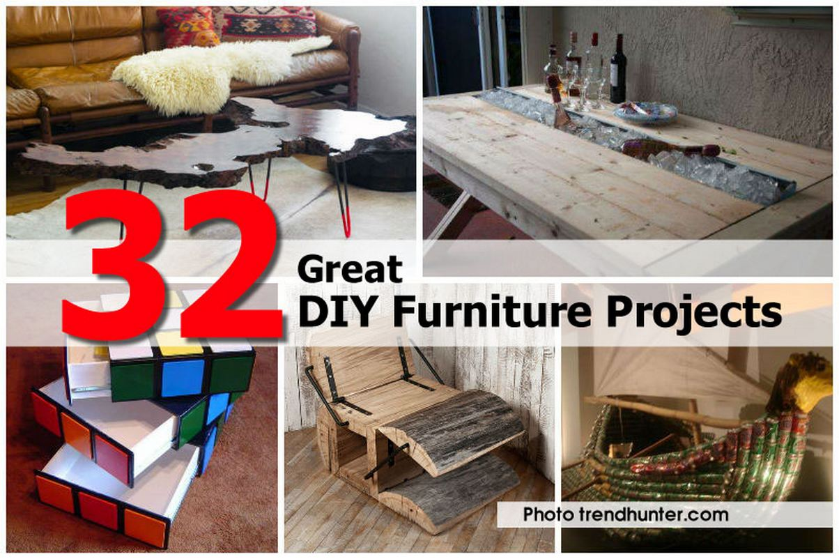 32 great diy furniture projects. Black Bedroom Furniture Sets. Home Design Ideas