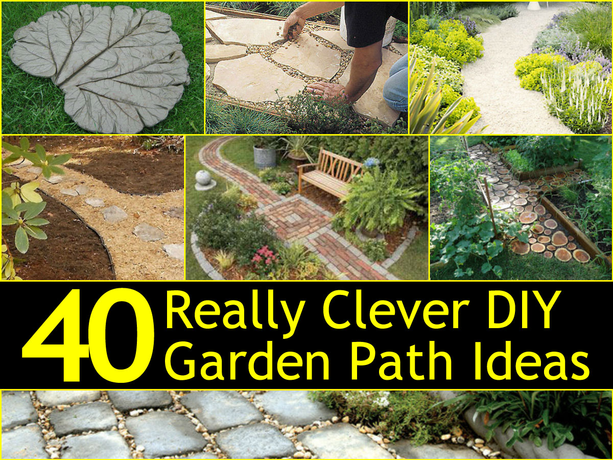 40 really clever diy garden path ideas for Clever diy projects