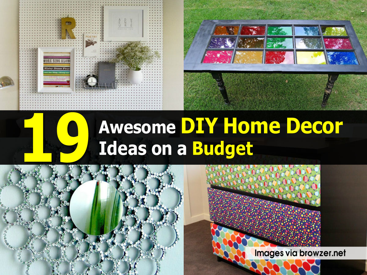 19 awesome diy home decor ideas on a budget