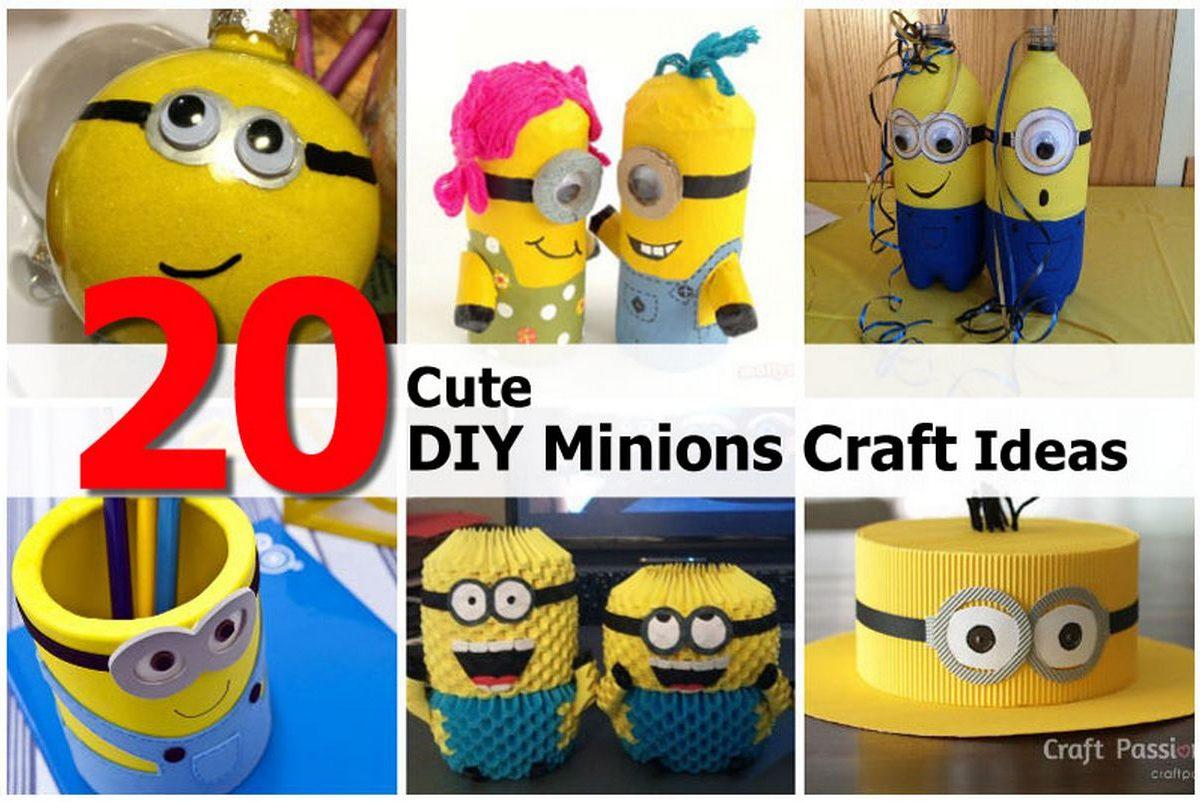 20 cute diy minions craft ideas for Cute easy sellable craft ideas
