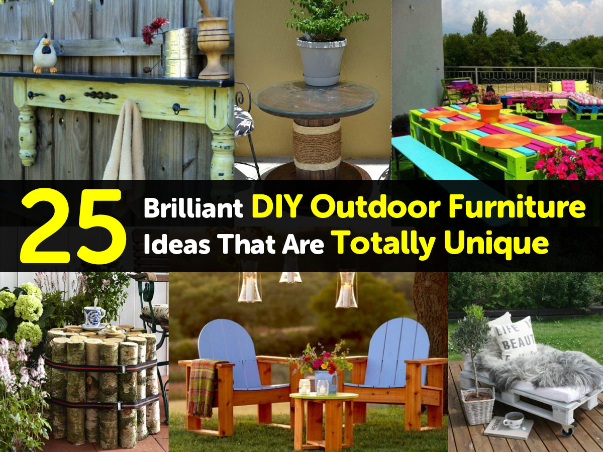25 brilliant diy outdoor furniture ideas that are totally