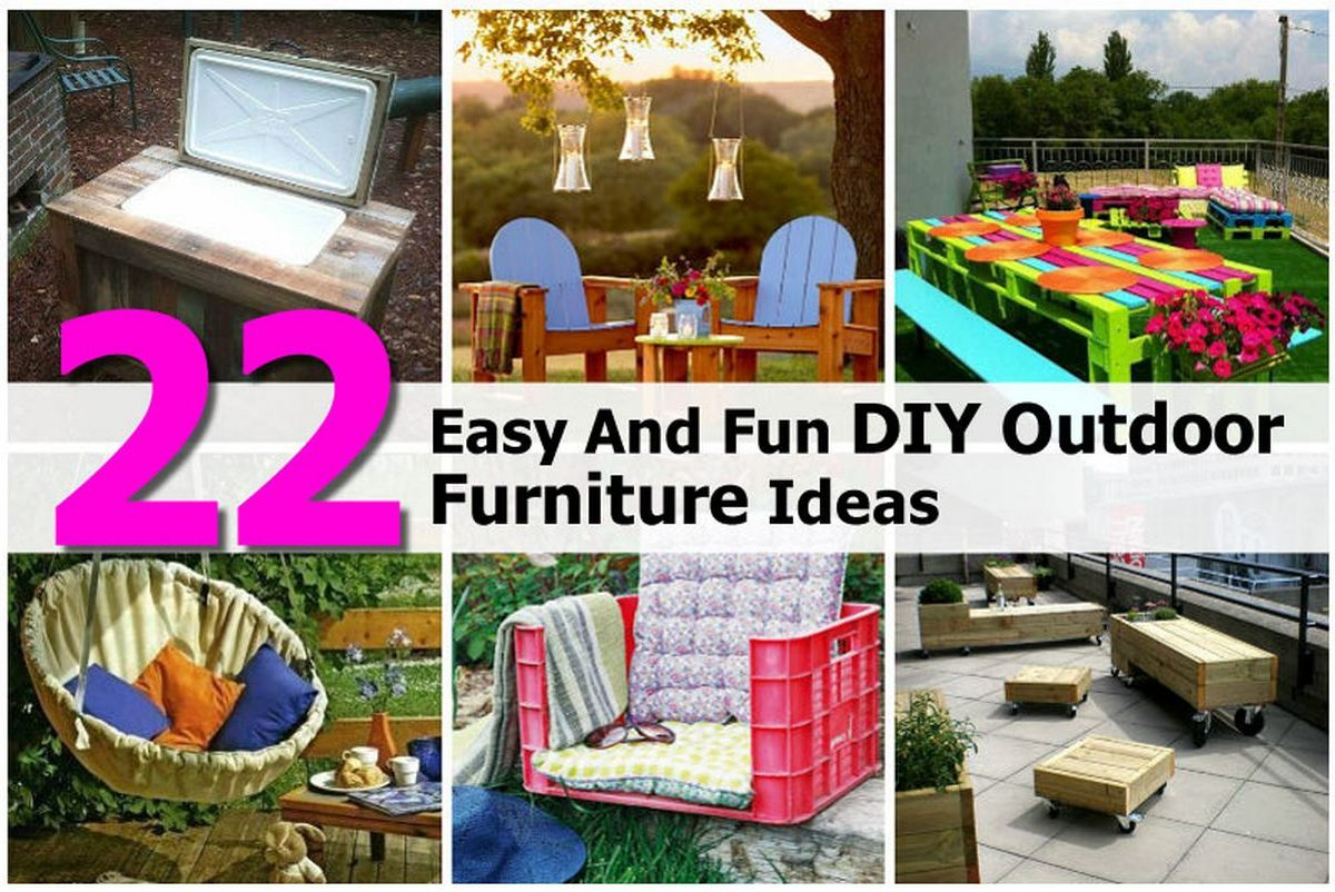 22 easy and fun diy outdoor furniture ideas. Black Bedroom Furniture Sets. Home Design Ideas