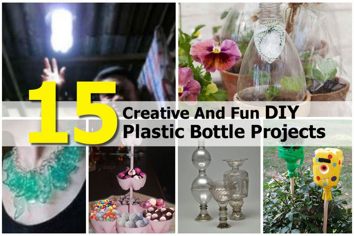 15 creative and fun diy plastic bottle projects for Diy bottle projects