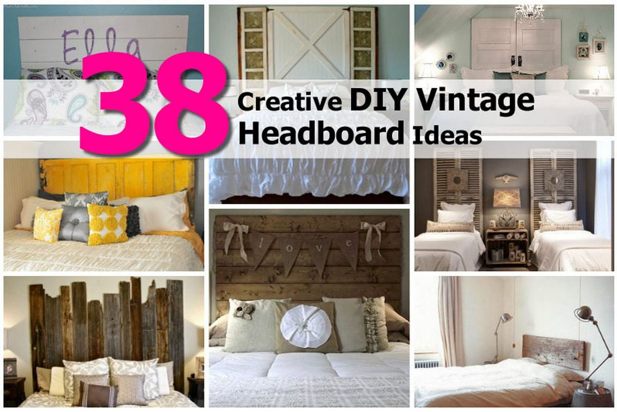 38 creative diy vintage headboard ideas for Interesting diy projects