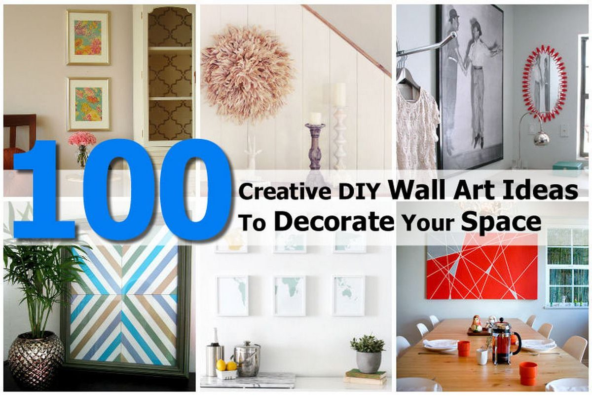 100 creative diy wall art ideas to decorate your space Creative wall decor ideas