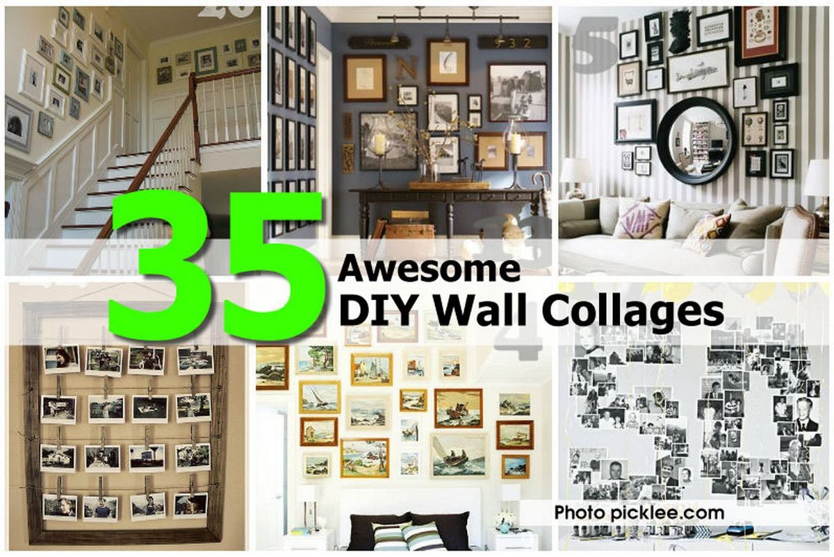 35 Awesome Diy Wall Collages