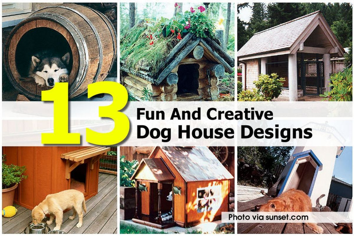 13 fun and creative dog house designs for Dog house layouts
