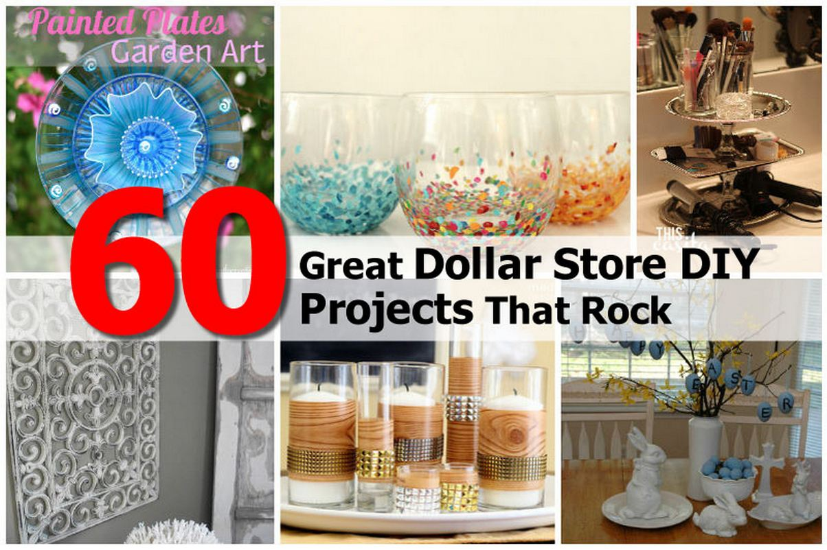 dollar store projects You'll be surprised that these crafts started at the dollar store.