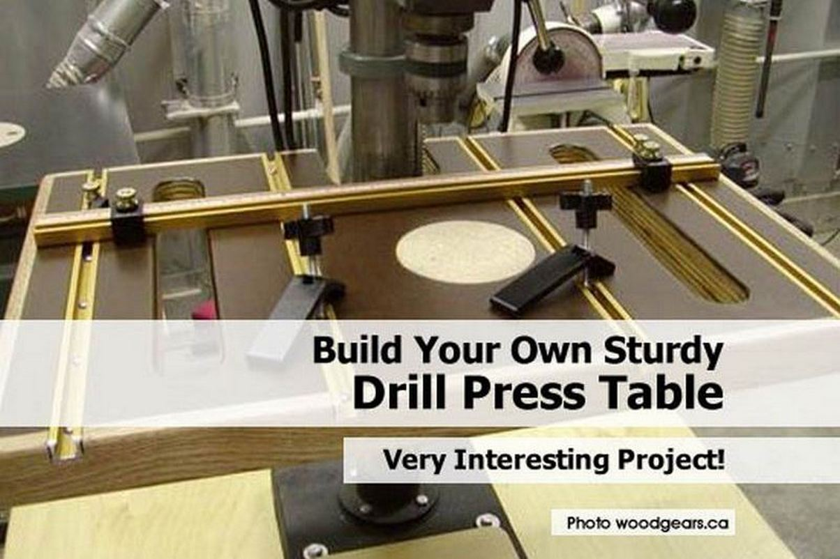 build your own sturdy drill press table. Black Bedroom Furniture Sets. Home Design Ideas