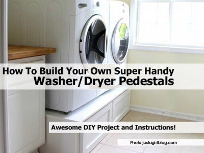 How To Build Your Own Super Handy Washer/Dryer Pedestals