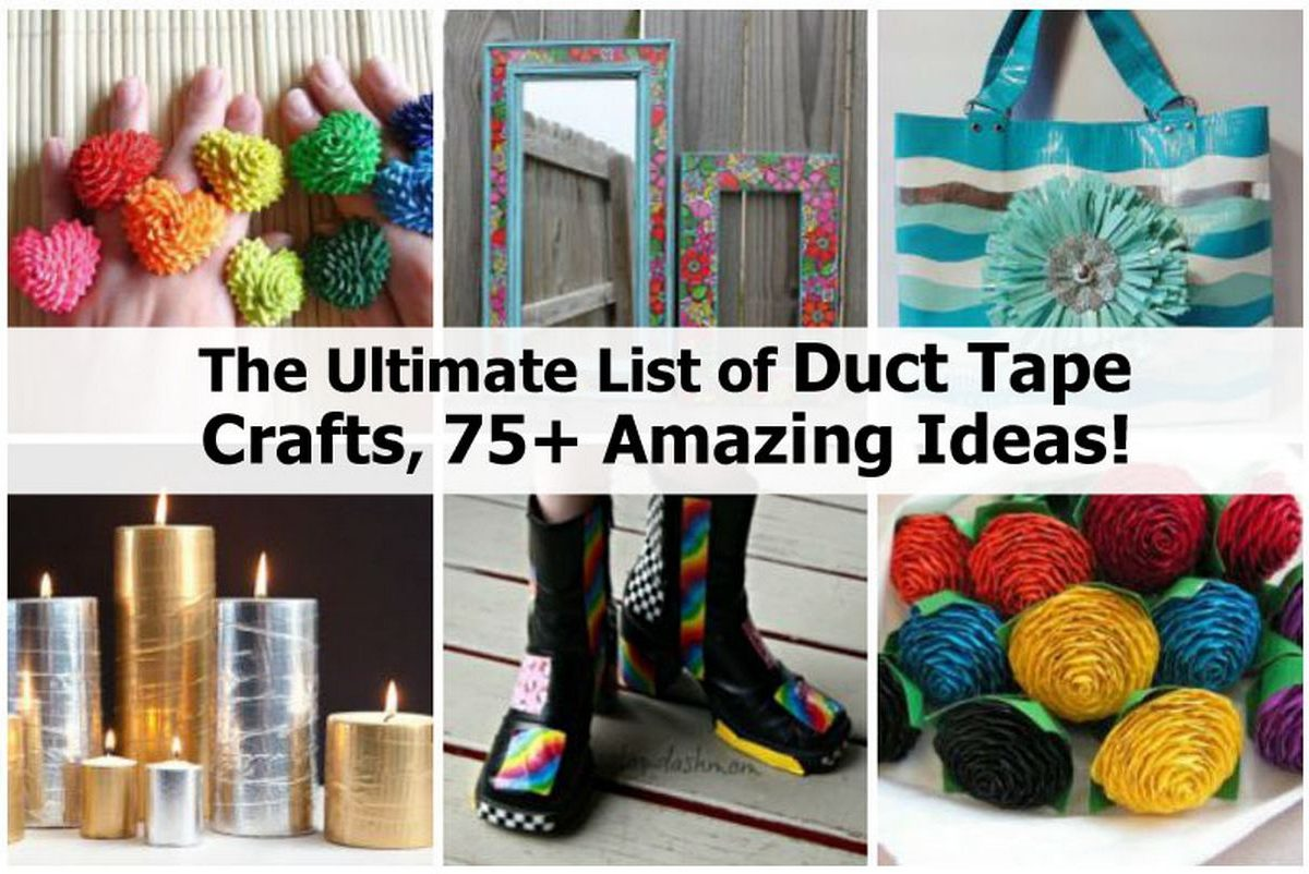 The ultimate list of duct tape crafts 75 amazing ideas for Craft ideas with duct tape