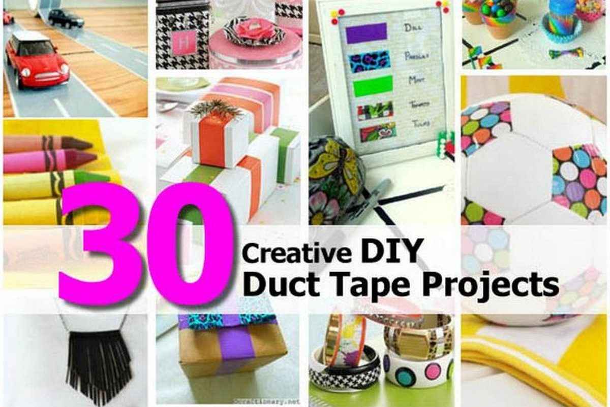 30 creative diy duct tape projects. Black Bedroom Furniture Sets. Home Design Ideas