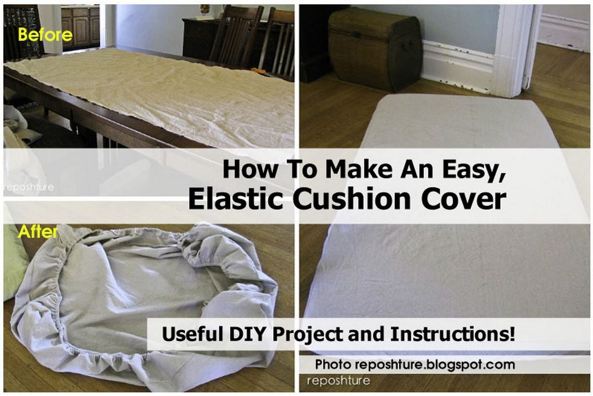 How To Make An Easy, Elastic Cushion Cover