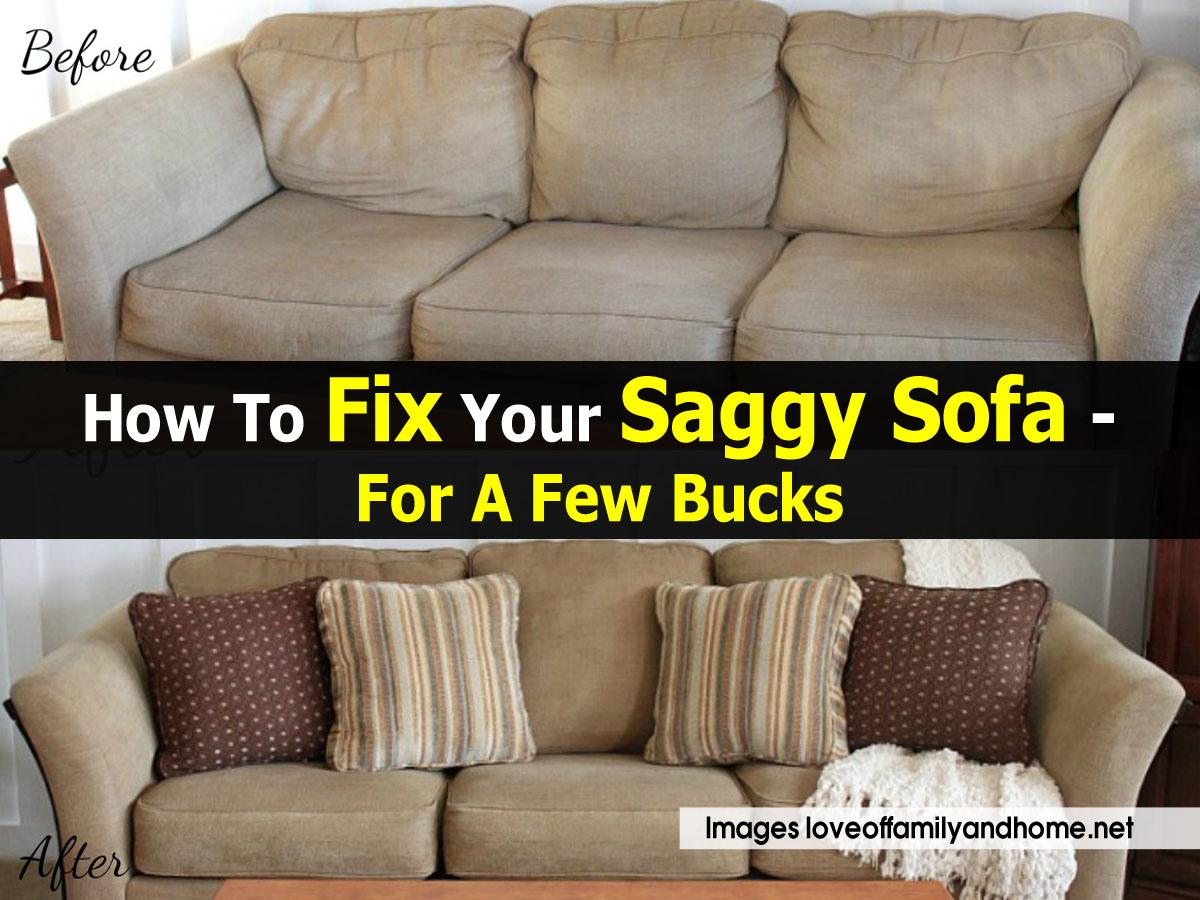 How To Fix A Sagging Sofa Smileydotus