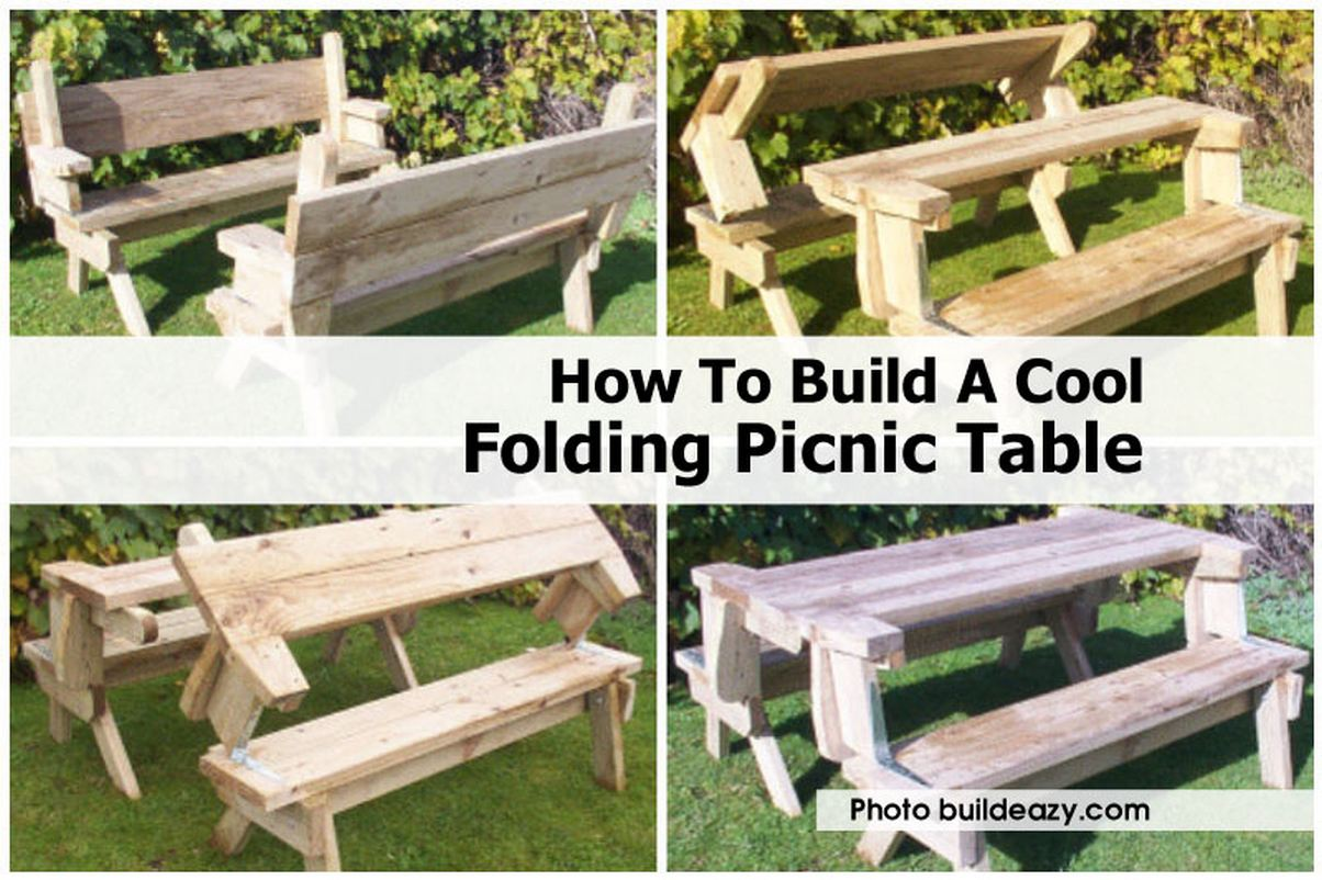 picnic table is so well designed. It can be turned into single picnic ...