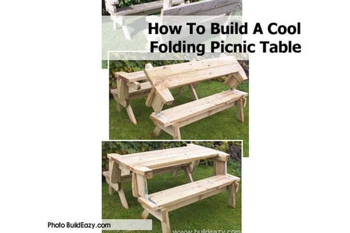 folding picnic table bench diy | Quick Woodworking Projects